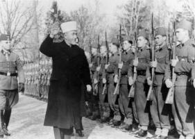 Husseini con tropas SS Nazis