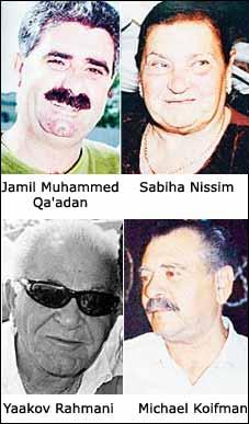 Cuatro de las cinco víctimas