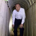 El Secretario de la ONU visitó los túneles del terror de Hamas