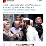 De «fanáticos judíos religiosos» y de «moderadas musulmanas»