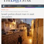 """Titulan """"La policía israelí dispara a un hombre en Jerusalén Este"""" tras el asesinato de una bebé judía en un ataque terrorista"""