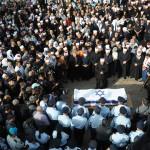Ultra-ortodoxos Judios acompañaron el funeral del policía druso