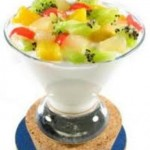 Copas de frutas crocantes
