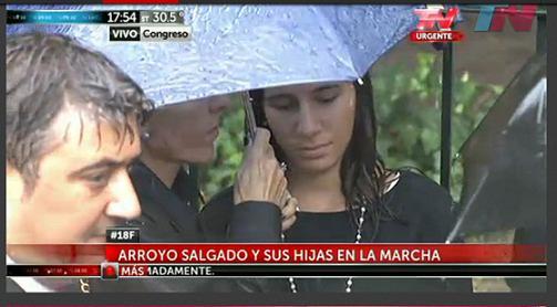 La ex esposa del Fiscal Nisman y su hija mayor