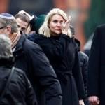 La Primer ministro danesa lloró en el funeral del judío asesinado en Copenhague