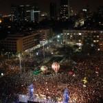 Decenas de miles marcharon en Tel Aviv contra Netanyahu