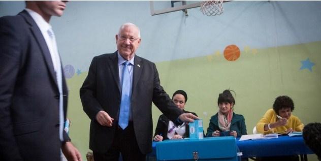 El presidente de Israel vota