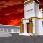 Impresionantes imágenes de nuestros Templos en esta Noche del 9 de Av