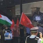 Supremacistas blancos y la bandera palestina