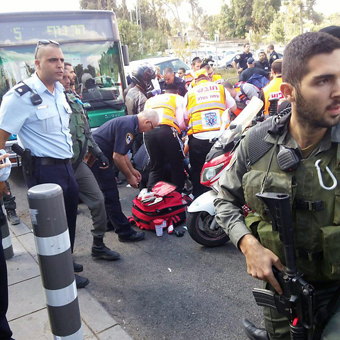 Lugar del ataque en Jerusalem