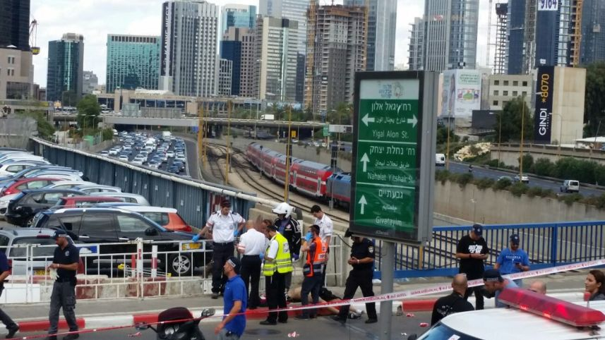 Lugar del Ataque en Tel Aviv