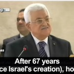 Abbas dice que todo Israel es «ocupación»