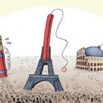 ISIS y Europa en caricaturas