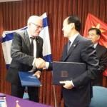 Israel y China firmaron un plan de acción agrícola conjunto