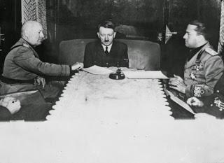Hitler, Mussolini y su yerno Ciano