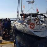 La nave que intentaba llegar a Gaza atraca en Israel