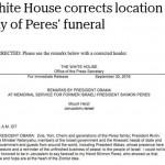 ¿En qué país está enterrado Shimon Peres según los EEUU y Europa?