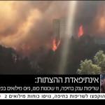 """Estado de guerra"" por múltiples incendios que se esparcen en diversos puntos de Israel"