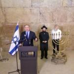 """Netanyahu:""""No hay mejor lugar para encender las velas de Januca que el Kotel"""""""