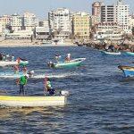 Docenas de embarcaciones palestinas intentan invadir área israelí