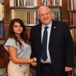 La primer voluntaria árabe en trabajar en la residencia del presidente israelí