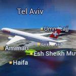 Aerolínea nacional Suiza cambió el nombre de la ciudad de Tel Aviv en su mapa y lo remplazó con un nombre árabe