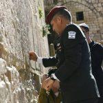 Aviv Kochavi, nuevo jefe de personal de las FDI, visita el Muro Occidental